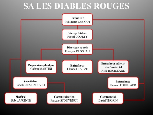 organigramme diables rouges